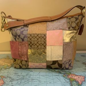 Multicolour Coach Patchwork Handbag